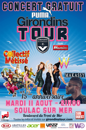 Concert SUMMER NIGHT du Girondins Tour Puma 2015