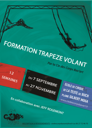 Formation trapèze volant en collaboration avec JEFF ROGEMONT