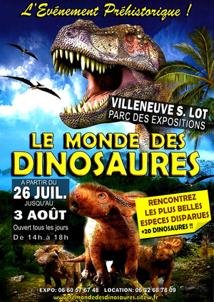 Exposition dinosaures