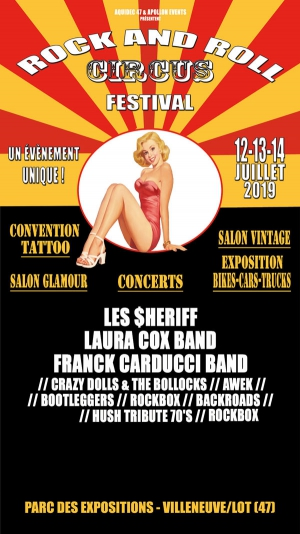 ROCK AND ROLL CIRCUS FESTIVAL - BILLET 1 JOUR