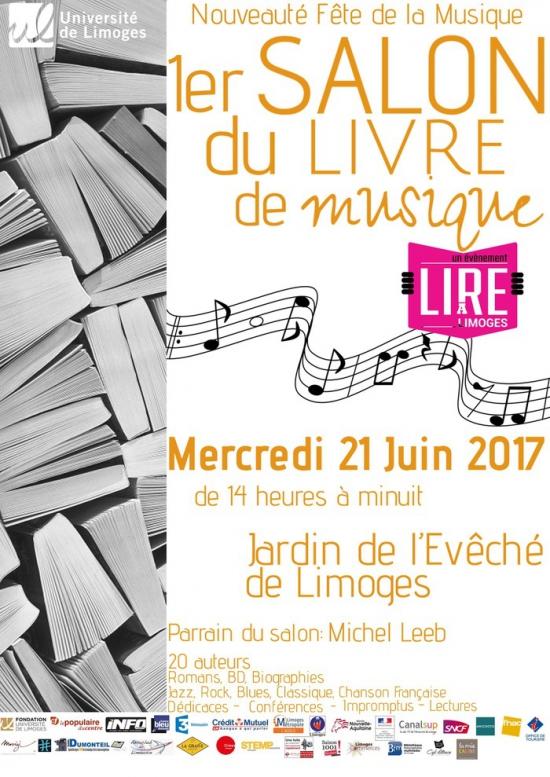 1er salon du livre de musique f te de la musique 2017 jardin de l 39 ev ch limoges 87000 - Fete de la musique salon de provence ...