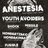 affiche ANESTESIA + YOUTH AVOIDERS +MISSILE - SHOCK + FUSIBLE + HONDARTZAKO HONDA